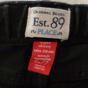 Children's Place Bottoms - Childrens place black super skinny jeans sz 6X/7